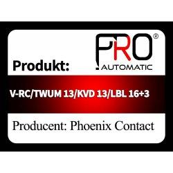 V-RC/TWUM 13/KVD 13/LBL 16+3