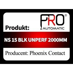 NS 15 BLK UNPERF 2000MM