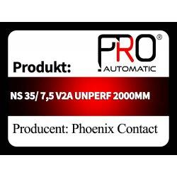 NS 35/ 7,5 V2A UNPERF 2000MM